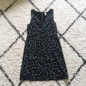 J.Crew wrap front dress in painted dots